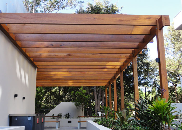 Polished Hardwood Pergola